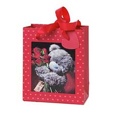 Small 3D Holographic Red Roses Me to You Bear Gift Bag