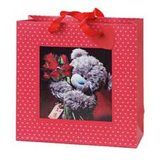 Medium 3D Holographic Red Roses Me to You Bear Gift Bag