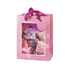Extra Small 3D Holographic Bear With Presents Me to You Bear Gift Bag