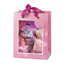 Small 3D Holographic With Presents Me to You Bear Gift Bag