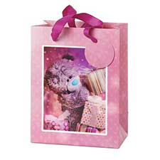 Medium 3D Holographic With Presents Me to You Bear Gift Bag
