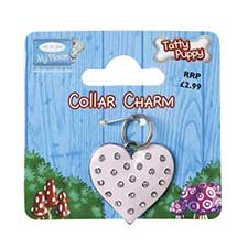 Tatty Puppy Me to You Bear Pink Heart Collar Charm