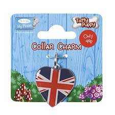Tatty Puppy Me to You Bear Union Jack Collar Charm