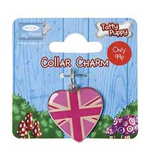 Tatty Puppy Me to You Bear Pink Union Jack Collar Charm