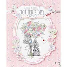Bear With Flowers Me to You Bear Mothers Day Card