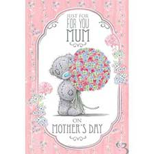 Mum Just For You Me to You Bear Mothers Day Card