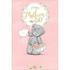 Holding Card & Flowers Me to You Bear Mothers Day Card