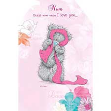 I Love You this Much Me to You Bear Mothers Day Card