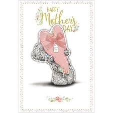 Holding Pink Heart Me to You Bear Mothers Day Card