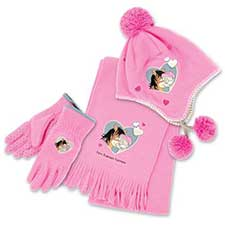 Me to You Bear Fleece Hat, Gloves & Scarf Set Age 8-10