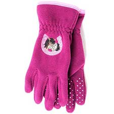 Me to You Bear Berry Fleece Riding Gloves Age 8-10