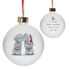 Personalised Me to You Christmas Together Bauble