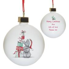 Personalised Me to You Stacking Presents Christmas Bauble