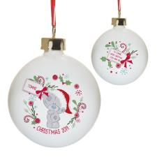 Personalised Me to You Christmas Wreath Bauble