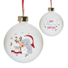 Personalised Me to You Magical Christmas Bauble