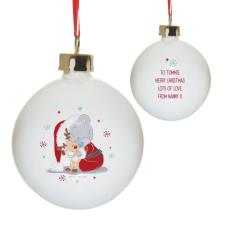 Personalised Me to You Christmas Cuddles Bauble