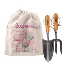 Personalised Me to You Lovely As A Flower Garden Tool Set