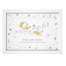 Personalised Tiny Tatty Teddy Autumn Leaves A4 Framed Print