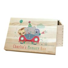 Personalised Tiny Tatty Teddy Little Circus Wooden Memory Box