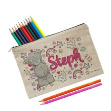 Personalised Me to You Pastel Pop Pencil Case & Coloured Pencils Set