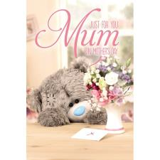 3D Holographic Just For You Me to You Bear Mothers Day Card