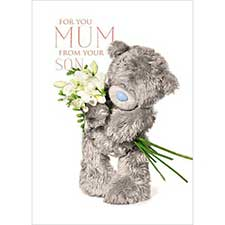 3D Holographic Mum From Son Me to You Mothers Day Card
