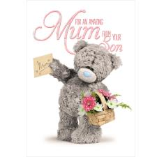 3D Holographic Mum From Son Me to You Bear Mothers Day Card