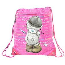 Horse Riding Me to You Bear Drawstring Bag
