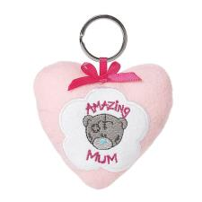 Amazing Mum Plush Heart Me to You Bear Keyring