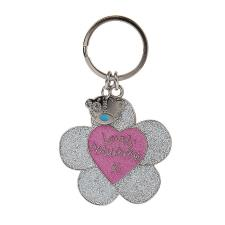 Lovely Mummy Flower Enamel Me to You Bear Key Ring