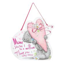 Mum One In A Million Me to You Bear Shaped Plaque
