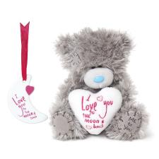 "5"" Love You To The Moon Me to You Bear & Plaque Set"