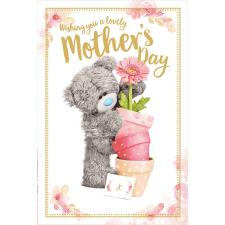 Holding Flower Pots 3D Holographic Me to You Bear Mother's Day Card