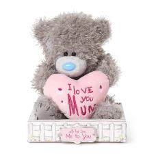 "7"" Love You Mum Padded Heart Me to You Bear"