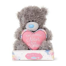 "7"" Padded Greatest Nan Heart Me to You Bear"