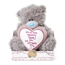 "9"" You're Amazing Verse Padded Heart Me to You Bear"