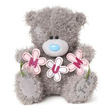 "10"" Mum Flower Banner Me To You Bear"