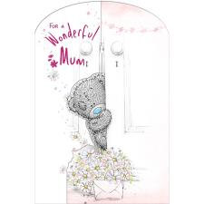 Mum Bear Behind Door Me to You Bear Open Mother's Day Card