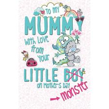 Mummy From Little Boy My Dinky Bear Me to You Mother's Day Card