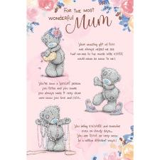 Wonderful Mum Poem Me to You Bear Mother's Day Card