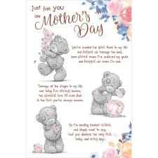 Just For You Poem Me to You Bear Mother's Day Card