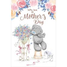 Tatty Teddy With Flower Stand Me to You Bear Mother's Day Card