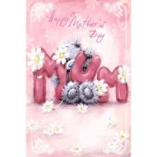 MUM Softly Drawn Letters Me to You Bear Mother's Day Card
