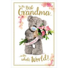 Best Grandma Photo Finish Me to You Bear Mother's Day Card