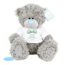 "Personalised 10"" Green Bow Me to You Bear"