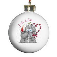 Personalised Me To You Bear Christmas Couple Bauble