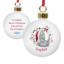 Personalised Me to You Bear Christmas Bauble