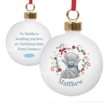 Personalised Me to You Blue Scarf Christmas Bauble
