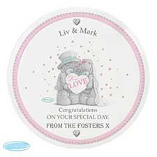 Personalised Me to You Bear Wedding Couple Plate