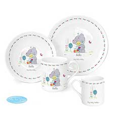 Personalised Tiny Tatty Teddy Cuddle Bug 3pc Breakfast Set